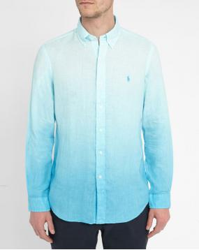 Chemise Lin Tie and Dye Carribean Blue