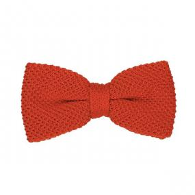 Noeud papillon tricot orange