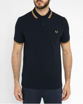 Polo Classic Slim Fit Noir Contraste Orange Jaune