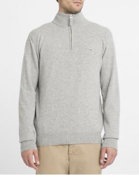 Pull Lambswool Camionneur Gris Clair