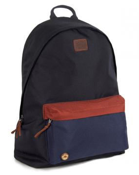 Sac Backpack Nylon Bleu et Camel