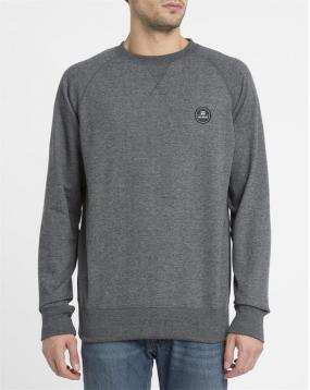 Sweat Col Rond Crew Gris