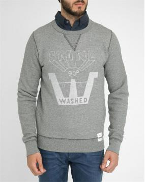 Sweat col rond gris chin