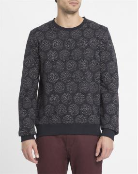 Sweat Shirt Col Rond Noir Print All Over Jeremie