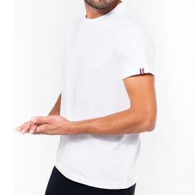 T-shirt Blanc Homme 100% Bio et Made In France